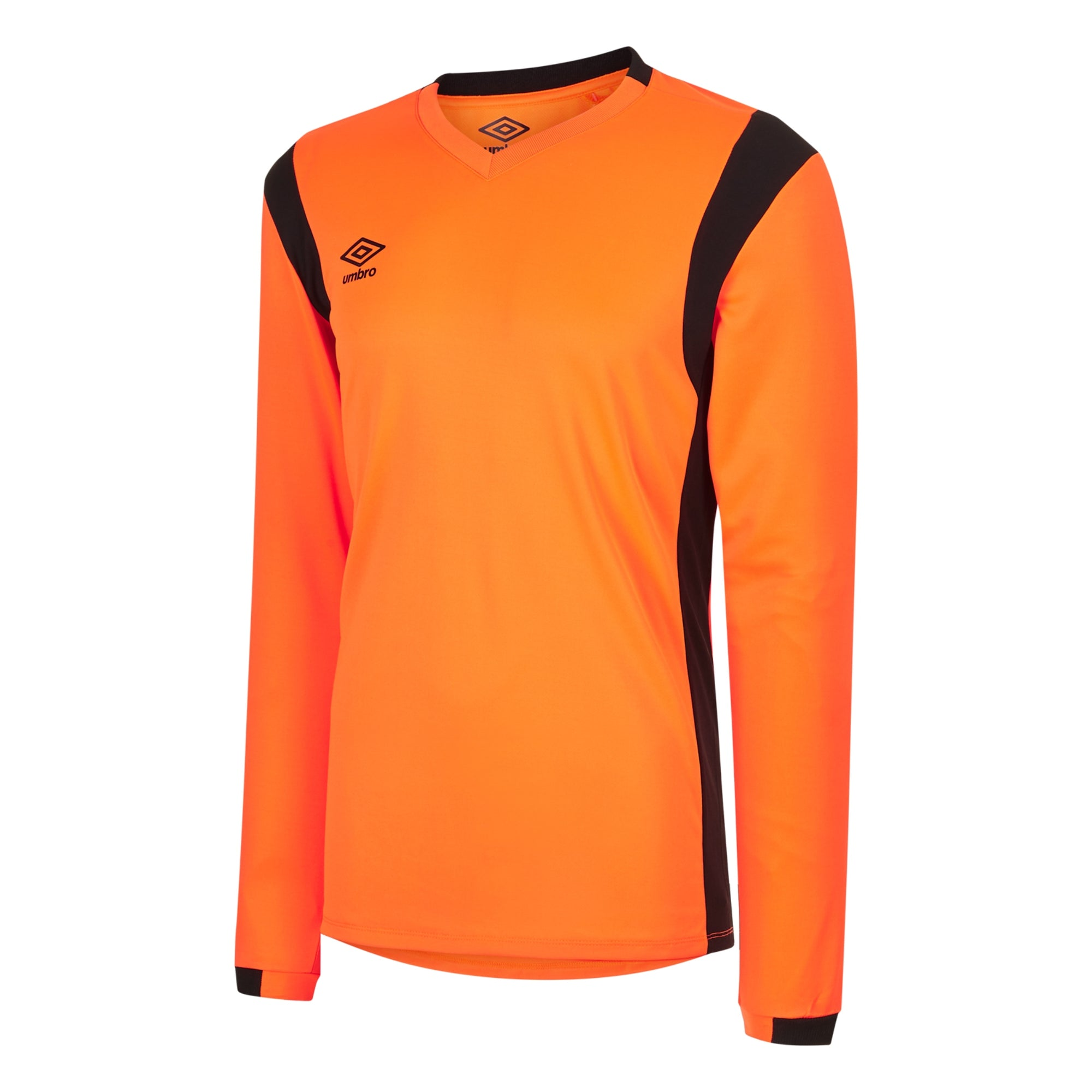 Umbro Spartan Jersey LS - Shocking Orange/Black