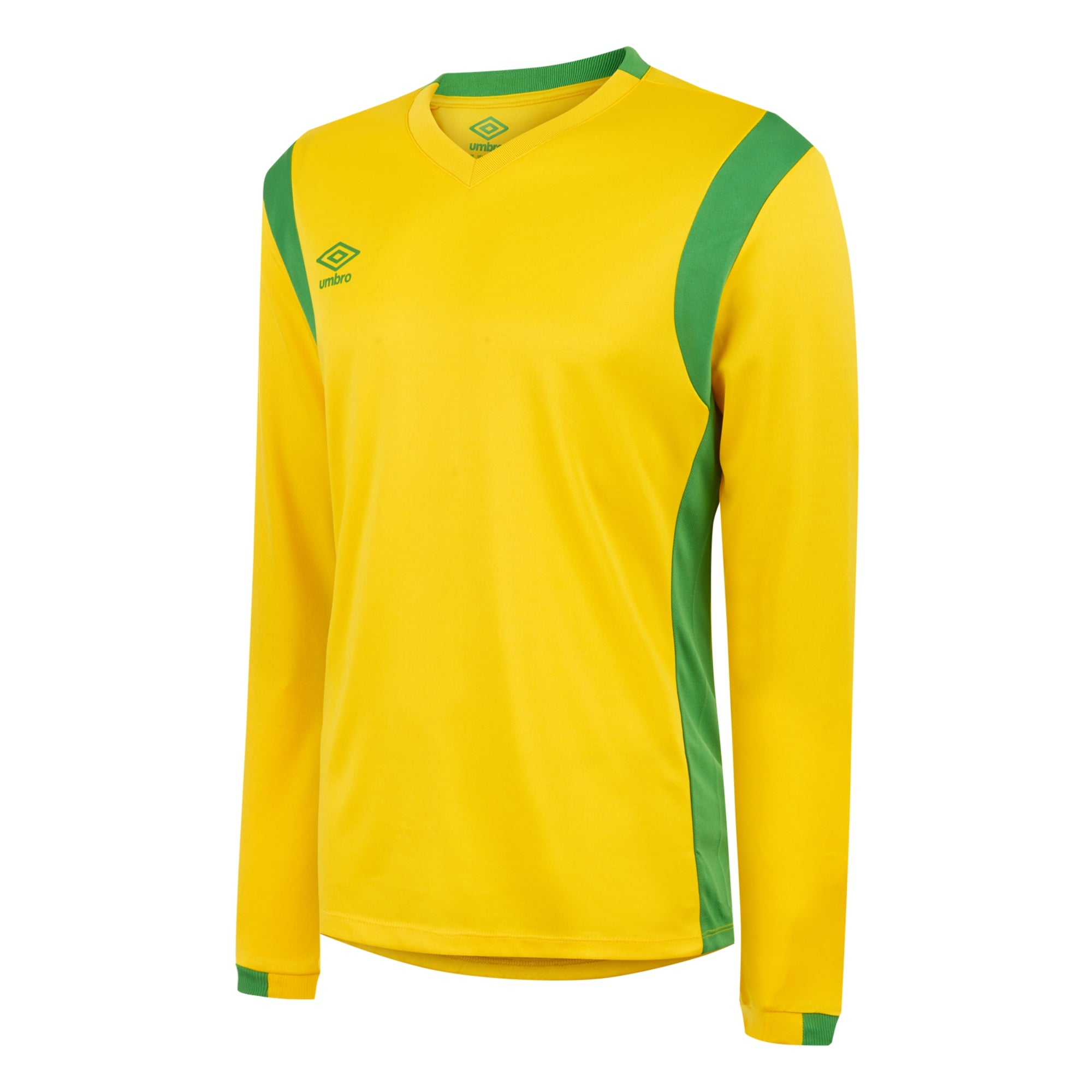 Umbro Spartan Jersey LS - Yellow/Emerald Green