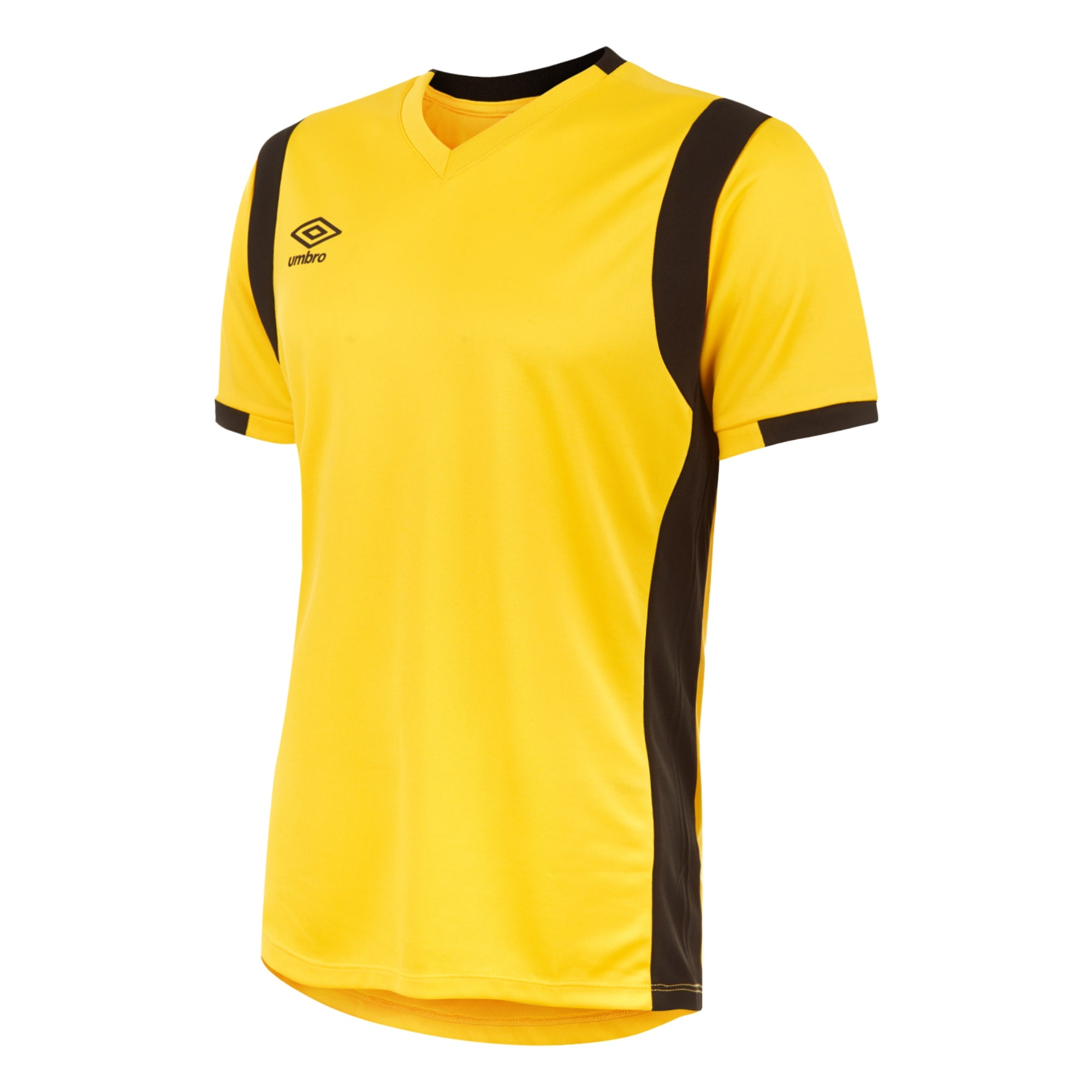 dc7e58e7d29 Umbro Spartan Jersey SS - Yellow Black - footballkitsdirect.com