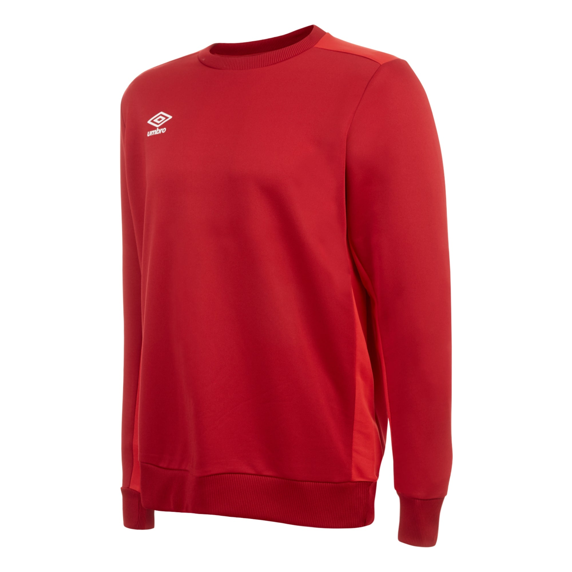 Umbro training poly sweat in vermillion with contrast jester red shoulder and side panels