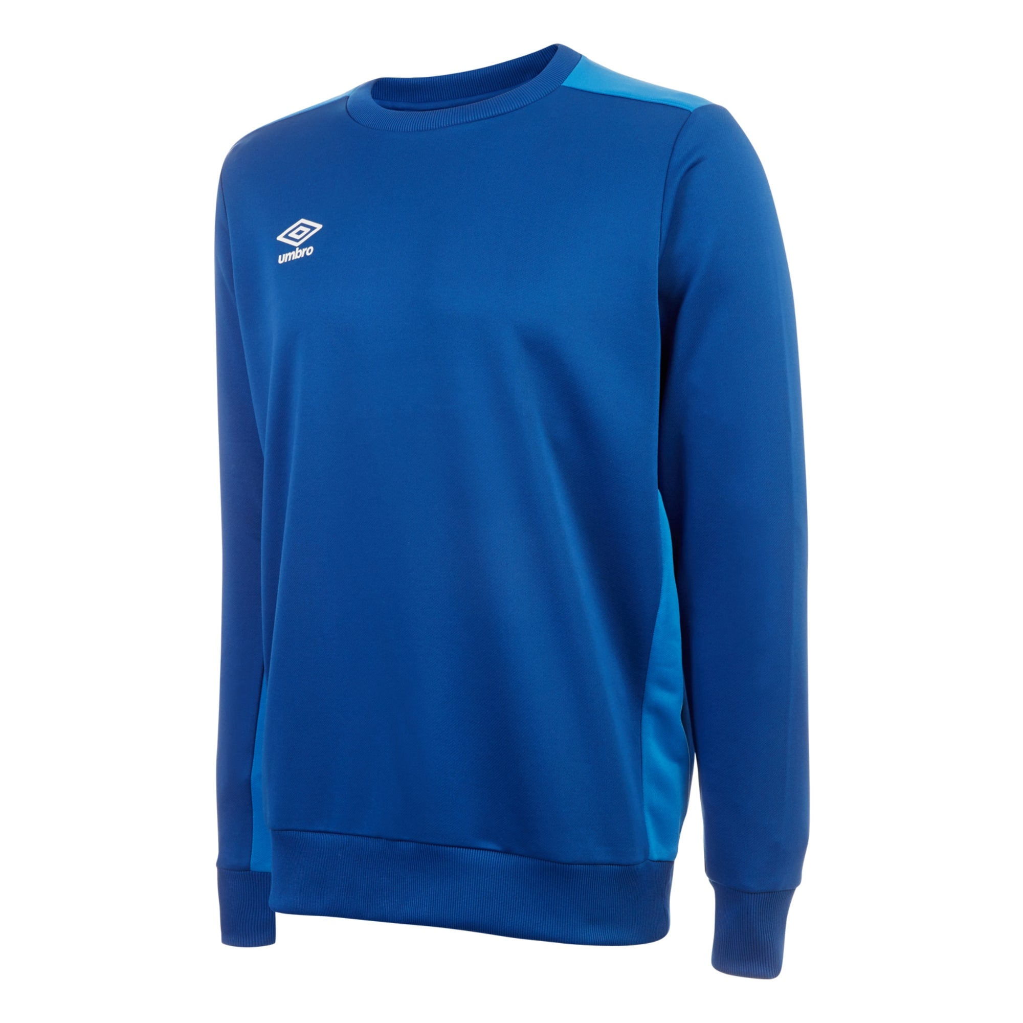 Umbro training poly sweat in TW royal with contrast lighter french blue shoulder and side panels