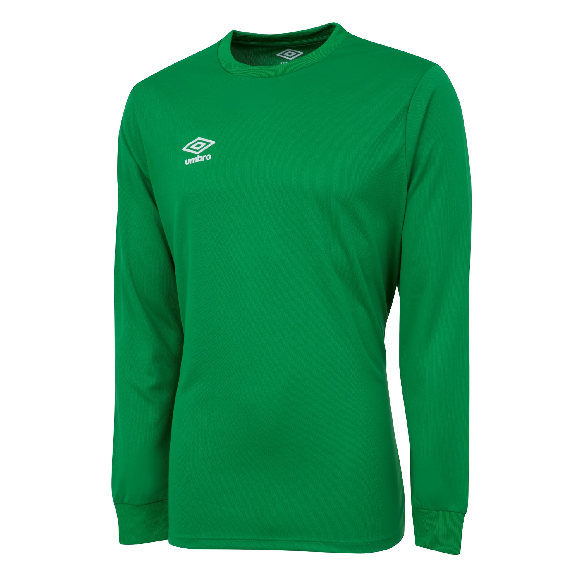 Umbro long sleeve club jersey in emerald with white printed Umbro logo