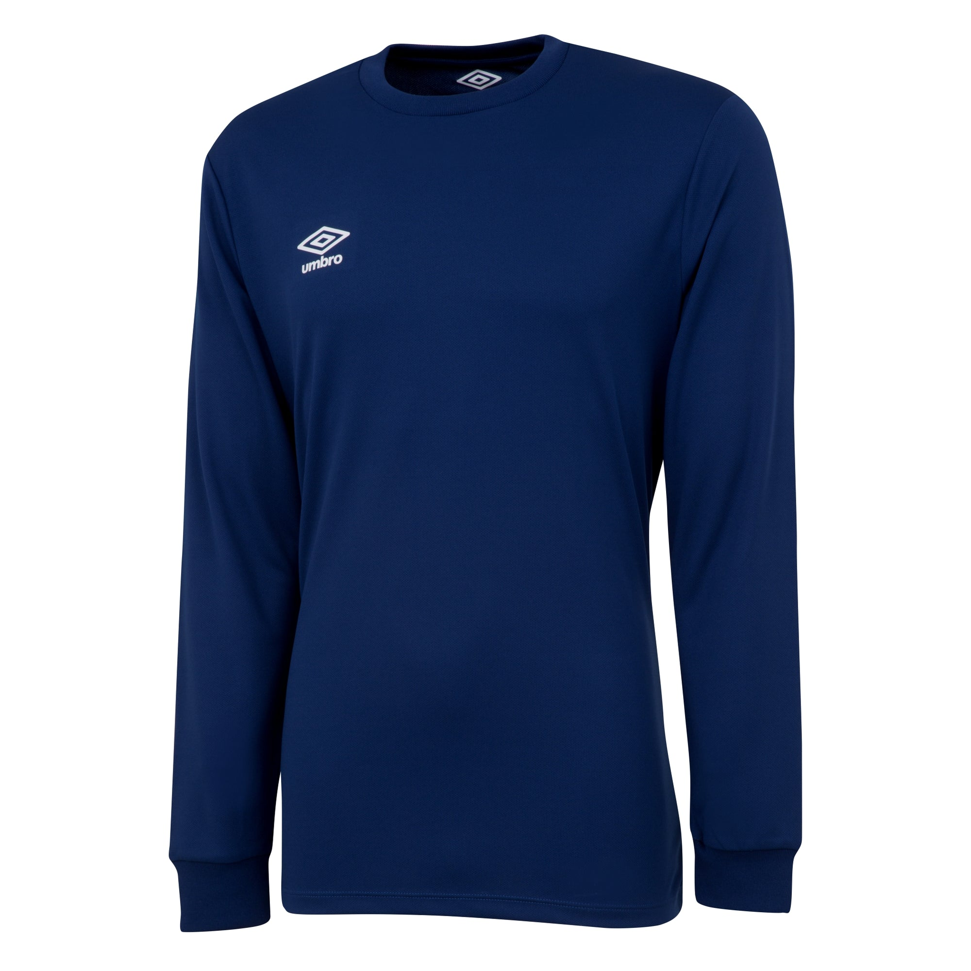 Umbro long sleeve club jersey in navy with white printed Umbro logo