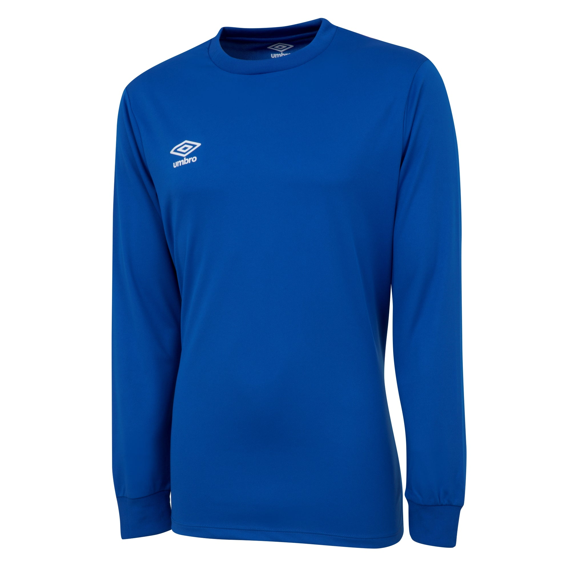 Umbro long sleeve club jersey in royal blue with white printed Umbro logo