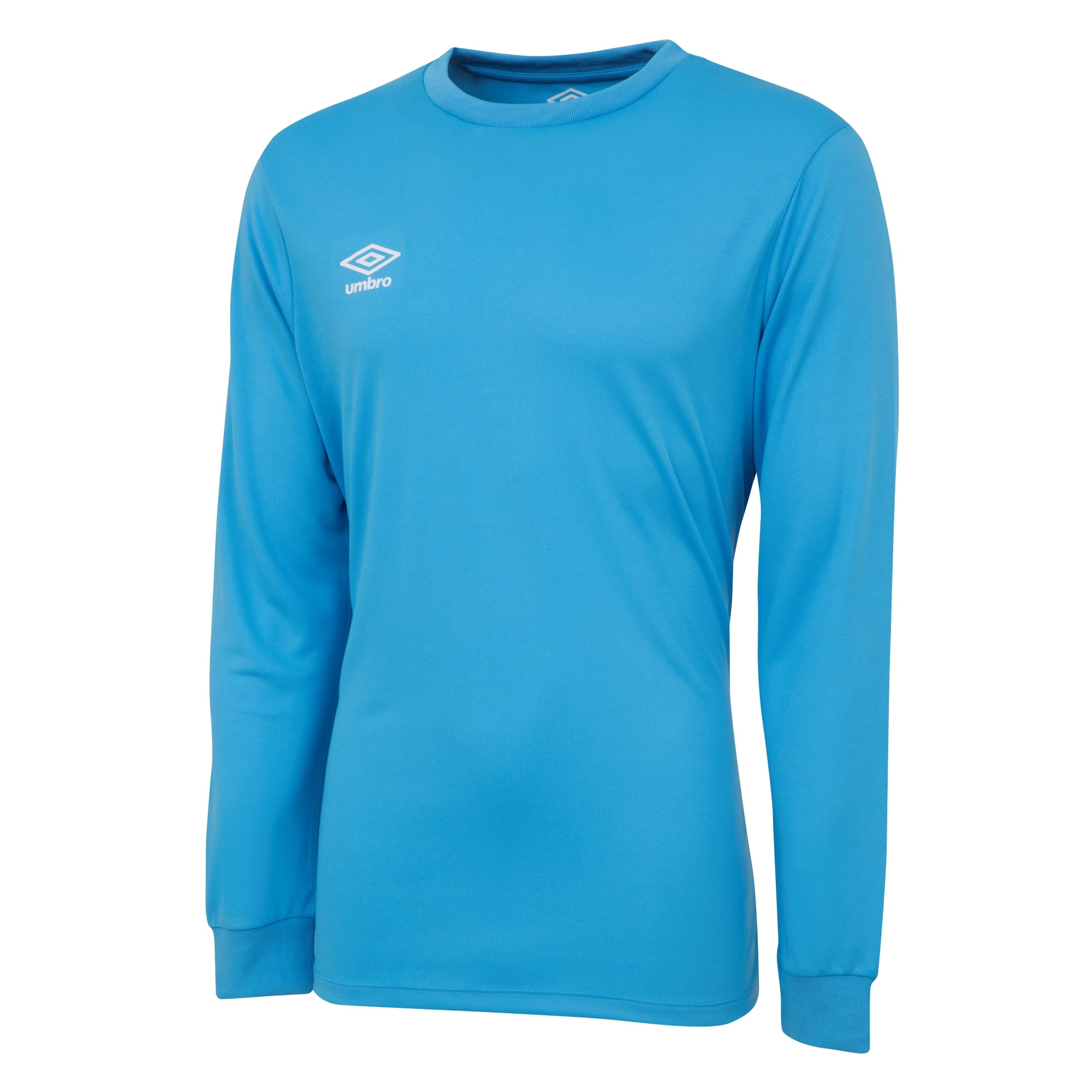 Umbro long sleeve club jersey in sky blue with white printed Umbro logo