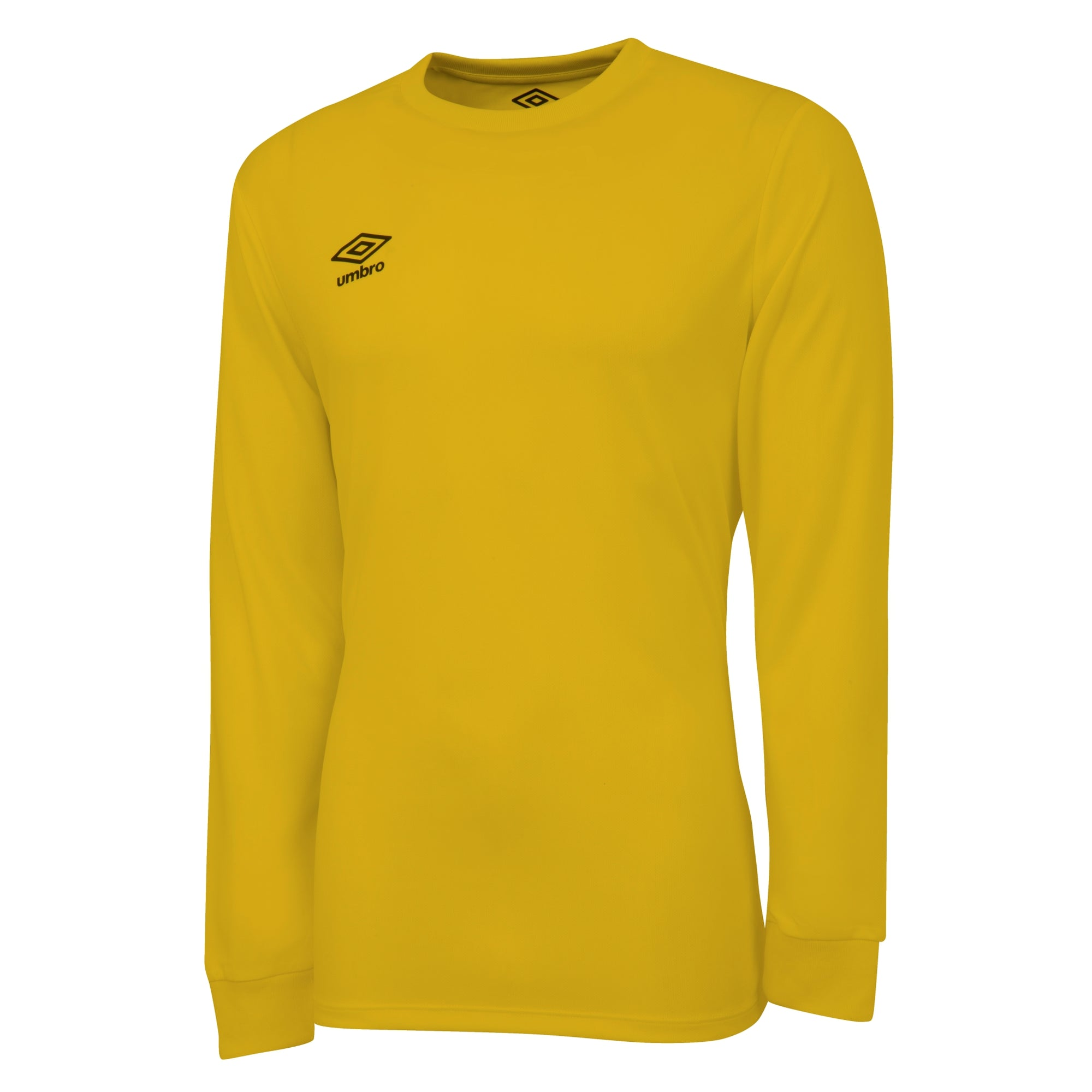 Umbro long sleeve club jersey in yellow with black printed Umbro logo