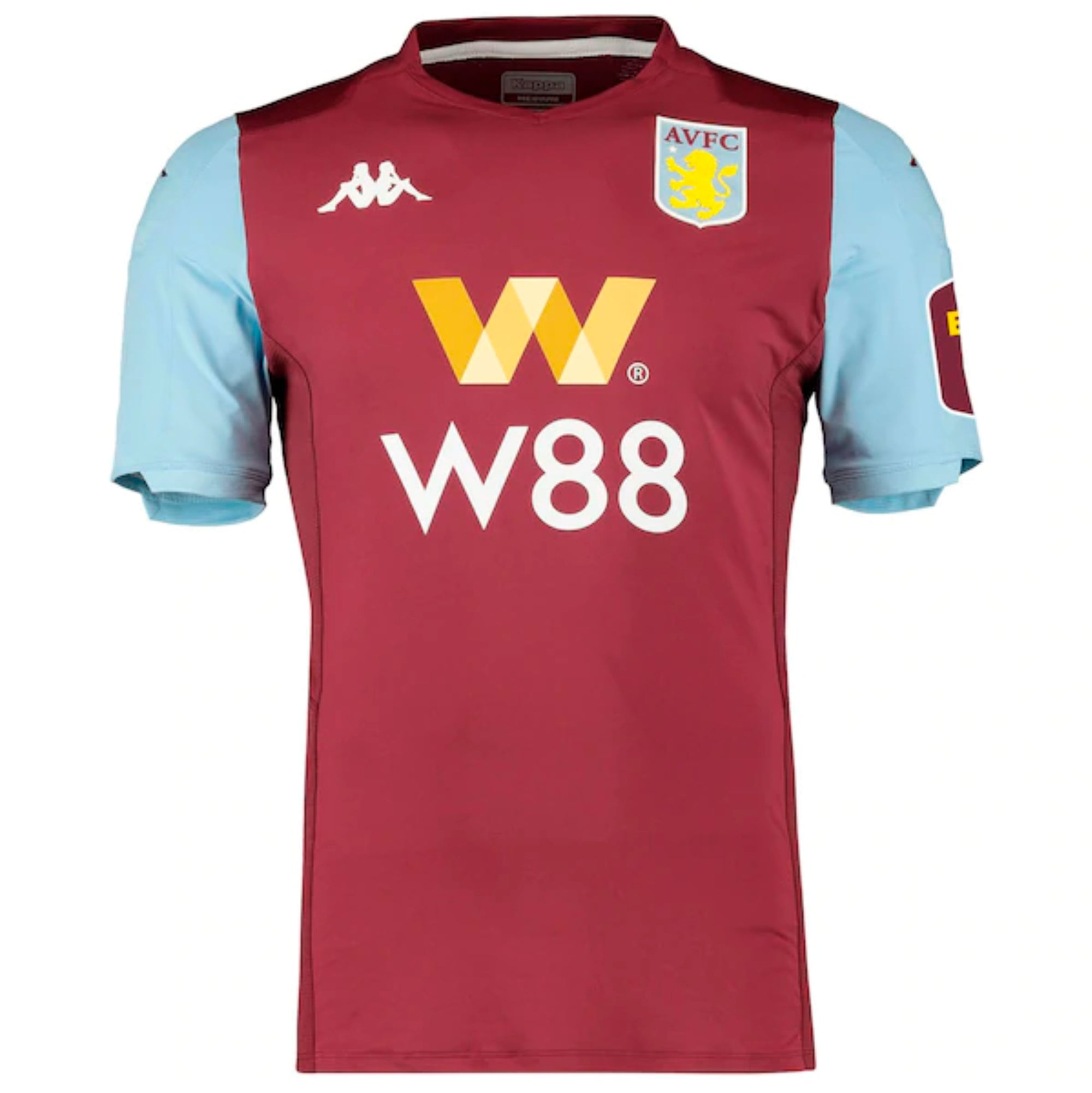Aston Villa professional home shirt in claret and sky