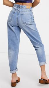 High Rise Tapered Mom Jean (Restocked)