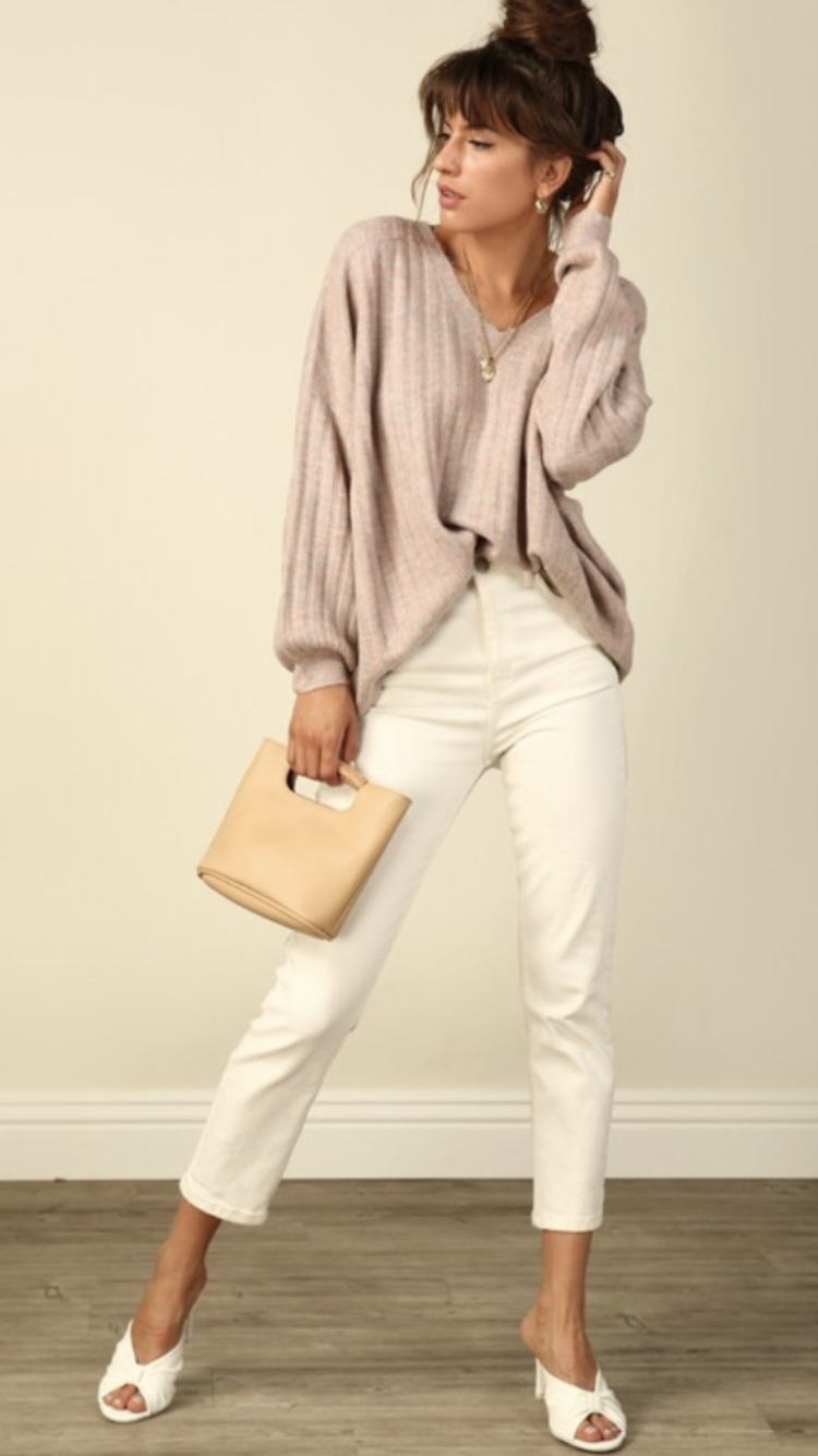 Andra V-Neck Oversized Sweater