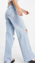 High Rise 90's Jeans with Rips