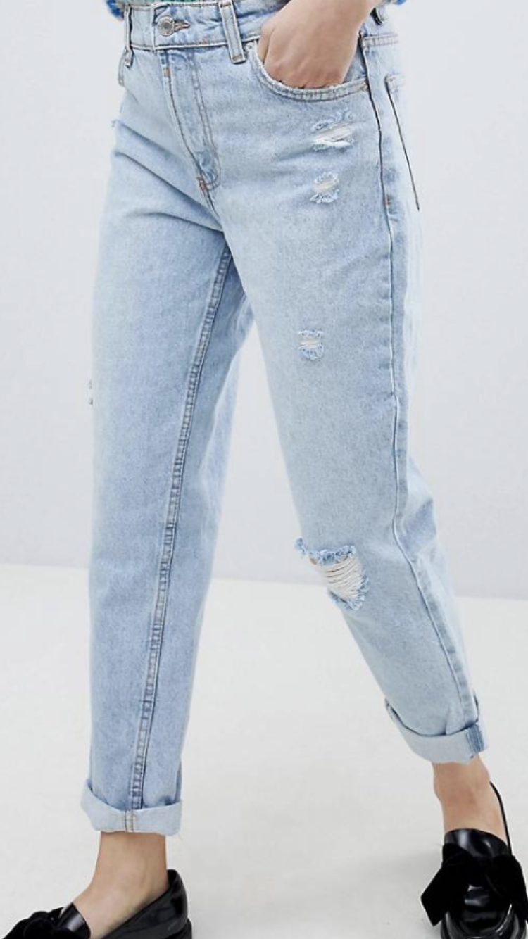 High waisted mom jean relaxed fit