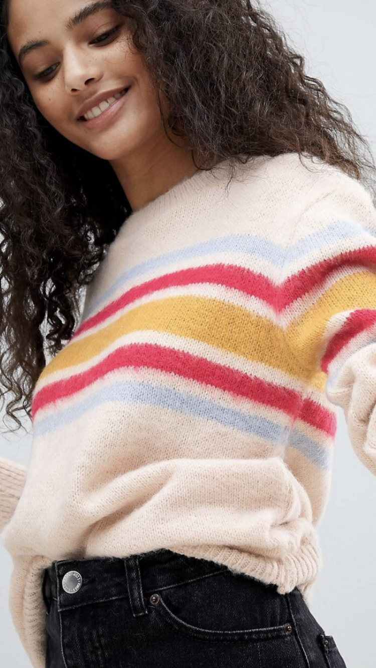 Andelyn striped panel sweater