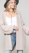 Chunky Slouchy Knit Cardigan (2 colors available)