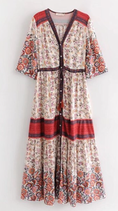 Willow mixed pattern floral dress