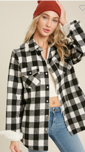 Buffalo Plaid Sherpa-Lined Shacket (2 color ways)