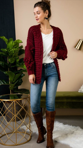 You Have My Heart Chuncky Knit Cardigan