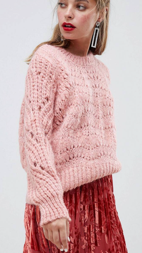 Think Pink Stitched Sweater