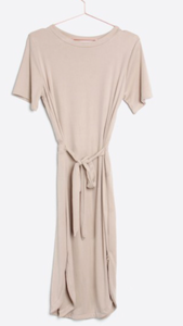 The Leila everyday dress in dusty taupe