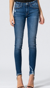 Blue Break Skinny Jean