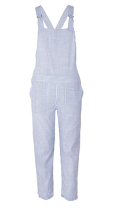 Lucy striped overalls in Linen