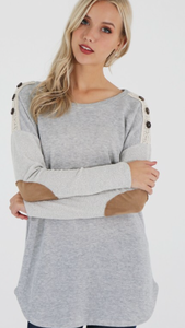 Terry tunic with lace detail