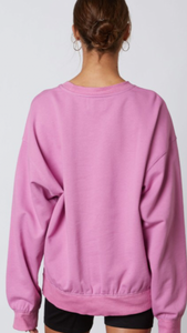 Oversized Drop Shoulder Sweatshirt//Orchid