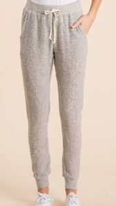 The Weekenders Two Tone Soft Knit Joggers