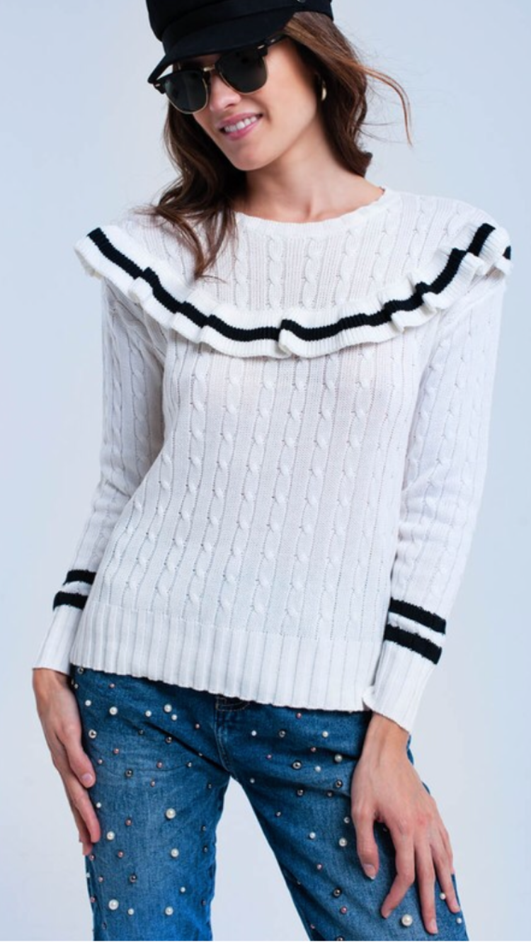Lexington cable knit sweater