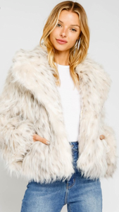 Spotted Faux Fur Luxury Coat
