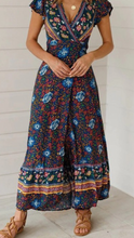 Delaney Floral Wrap Dress In Navy