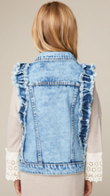 Ruffled Denim Vest