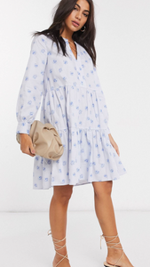 Madison Floral  Dress // Blue