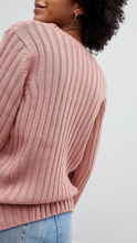 Liv ribbed sweater in blush