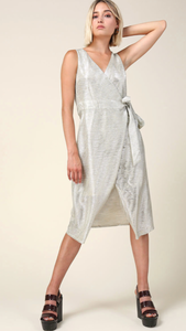 Liza Sleeveless Wrap Dress