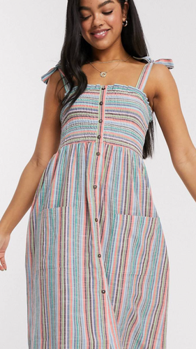 Sammy Multi Striped Midi Dress