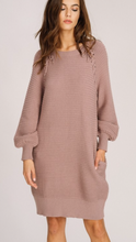 Ribbed sweater dress with rope detail