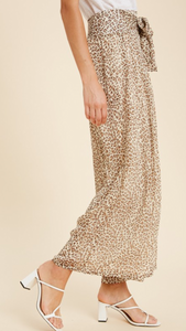 Cheetah Wide Leg Summer Pant