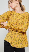 Bailey floral blouse in mustard