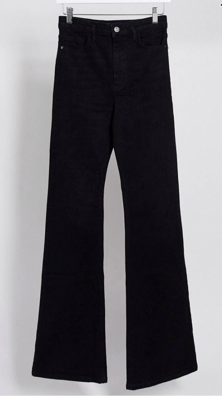 High Rise Flare Jeans//Black