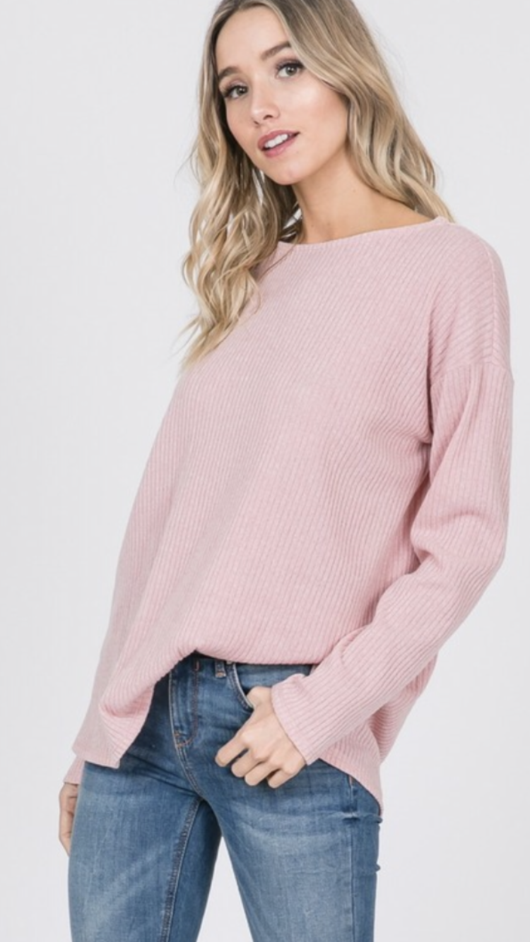 Oversized Sweater in Dusty Pink