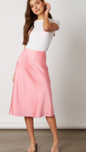 Emma Satin Midi Skirt