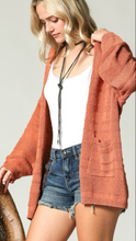 Rustic Clay Cardigan
