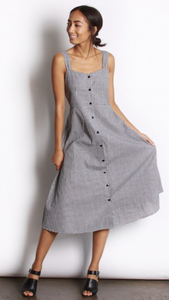 Skylar dress in gingham print
