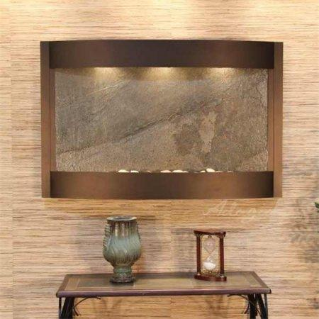 The Calming Waters Lightweight Slate Wall Fountain - Earth Inspired Products