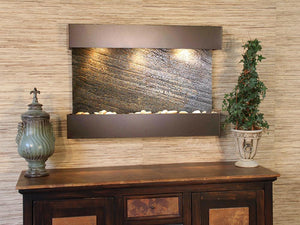 The Reflection Creek Travertine Wall Fountain - Earth Inspired Products