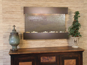 The Reflection Creek Lightweight Slate Wall Fountain - Earth Inspired Products