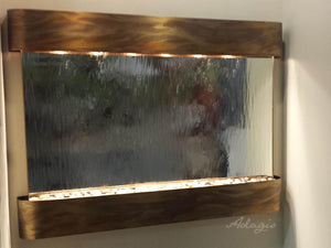 The Teton Fall Mirrrored Glass Wall Fountain - Earth Inspired Products