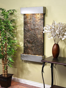 The Whispering Creek Lightweight Slate Wall Water Feature - Earth Inspired Products