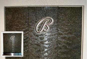 Custom Water Wall With Logo s engineered by Earth Inspired Products