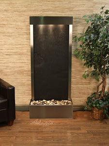 The Harmony River Lighweight Slate Floor Fountain - Earth Inspired Products